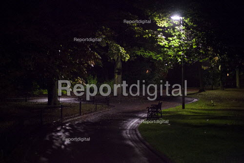 Clifton park, where many young girls were groomed and raped. Rotherham Centre, South Yorkshire. - Connor Matheson - 2014-09-06