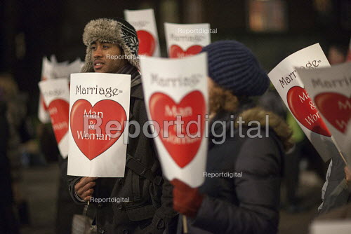 Stand for traditional Marriage protest against same sex couples marriage bill, Westminster, London - Duncan Phillips - 2013-03-01