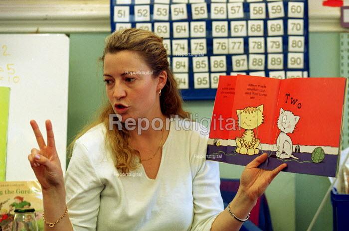 Junior and Infant school Teacher teaching Numbers - Duncan Phillips - 2001-01-21