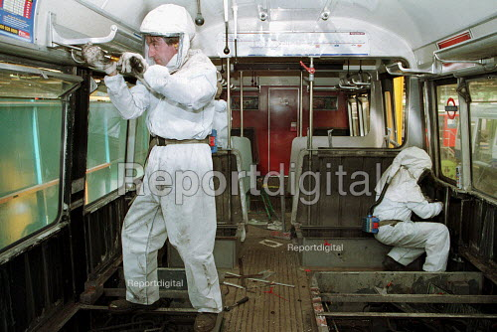 Engineer refitting London Underground Trains - Duncan Phillips - 2001-01-23