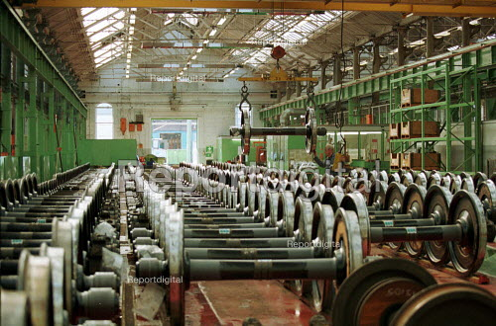 Train wheels, Derby - Duncan Phillips - 2001-01-23