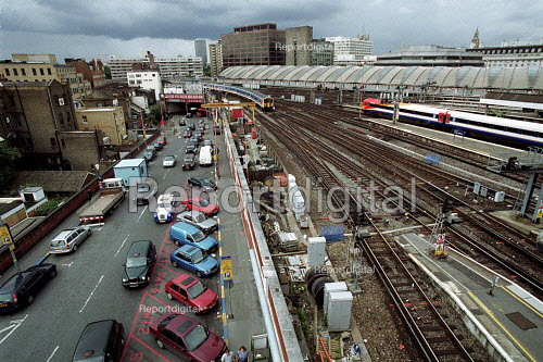 Trains leaving and arriving at Waterloo Station London - Duncan Phillips - 2002-01-29