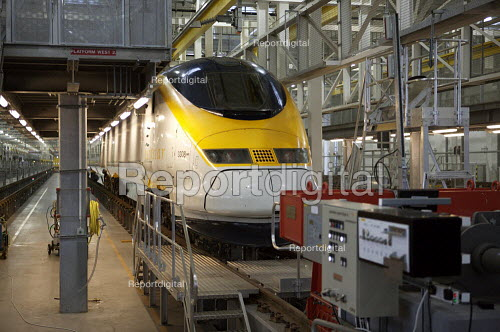 Eurostar Engineering Centre, Temple Mills, London. The facility is more than 400 metres long, and can take eight of Eurostar's 27-strong fleet of trains simultaneously. It cost �400million. - Duncan Phillips - 2007-10-02