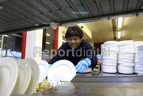 Train Catering department Euston Station. Area use to was dirty dishes from arriving trains. - Duncan Phillips - 2003-03-18