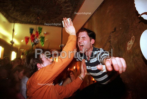 Dancing at a Traditional Turkish celebration Gallipoli restaurant London - Duncan Phillips - 2002-09-15