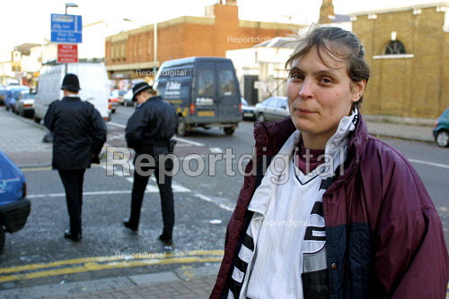 Prostitute who was given an ASBO notice to stop working in Tottenham, North London - Duncan Phillips - 2006-03-03