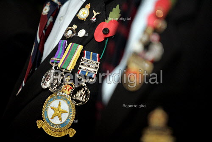 National Service Medals. Remembrance service London - Duncan Phillips - 2004-11-10