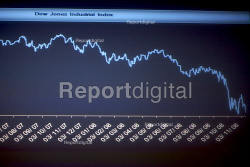 Graph illustrating the downturn in the economy - Duncan Phillips - 2008-11-18