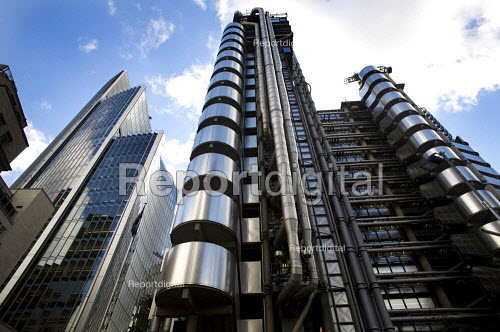 The Lloyd's building in the city of London financial district. - Duncan Phillips - 2008-10-22