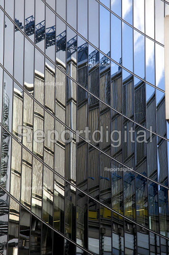 Reflection of the Lloyd's building in the city of London financial district. - Duncan Phillips - 2008-10-22