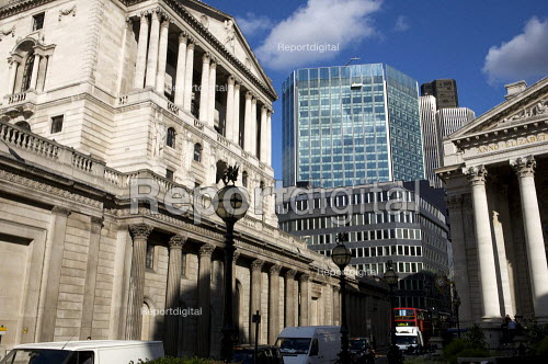 The Bank of England in the city of London' financial district. - Duncan Phillips - 2008-10-22