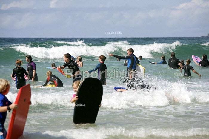 Bodyboarding, Sennen Cove Beach, Cornwall, uk. - Duncan Phillips - 2010-08-18