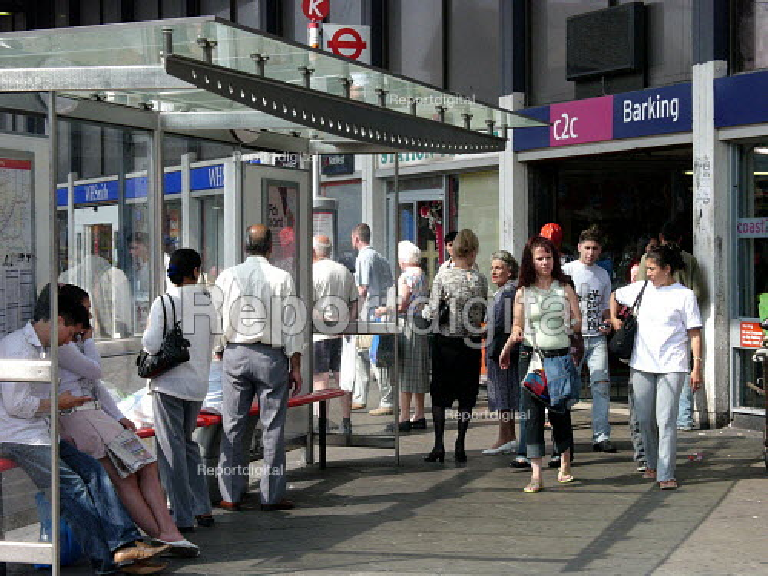 Bus Stop outside Barking Station - Duncan Phillips - 2005-07-15