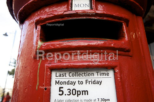 Postbox in the street, last collection time. - Duncan Phillips - 2010-09-18