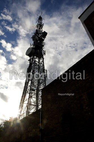 Telecommunications mast, Swain Lane, Highgate London - Duncan Phillips - 2010-10-01