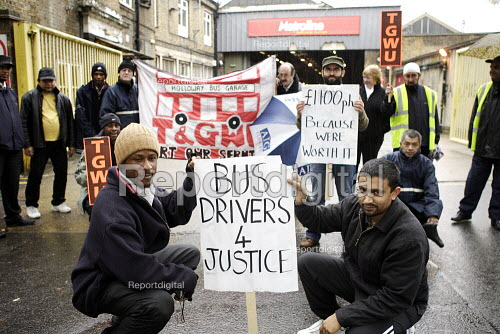 Metroline Bus Strike. Picket line Holloway Garage - Duncan Phillips - 2006-11-20