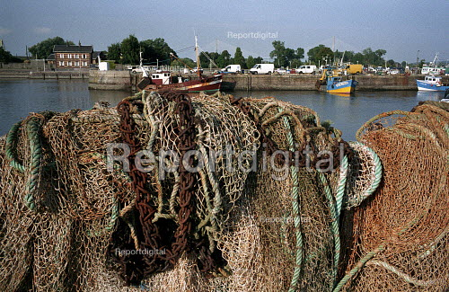 French fishing nets and boats, Honfleur, France - Duncan Phillips - 2005-08-15