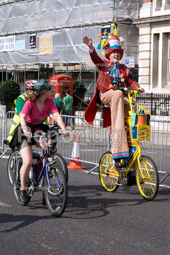 A clown, London Skyride 2009