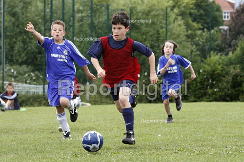 Pupils playing a football match - Duncan Phillips - 2008-07-06