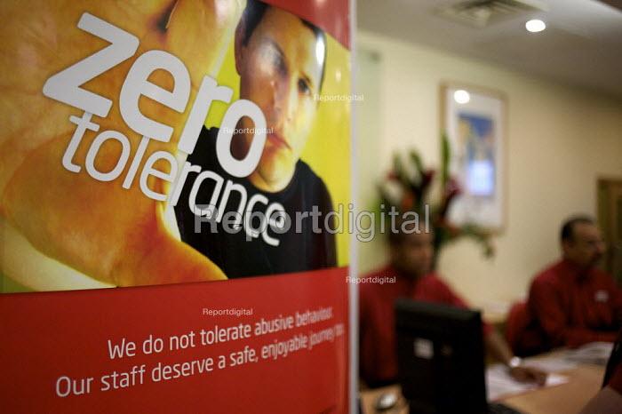 Poster promoting social behaviour towards station staff, Euston Station, London - Duncan Phillips - 2008-04-23