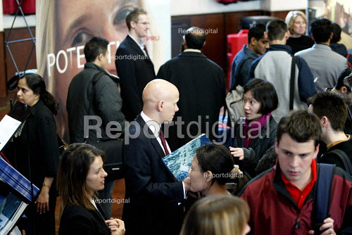Students at a University Careers Fair. - Duncan Phillips - 2003-11-05