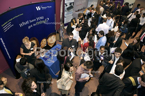 Students at a University Careers Fair. - Duncan Phillips - 2009-09-22