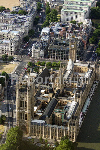 Aerial View of London - Houses of Parliament, Palace of Westminster. - Duncan Phillips - 2013-07-26