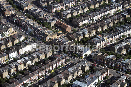 Aerial View of London - Terraced Housing, Putney, West London - Duncan Phillips - 2013-07-26
