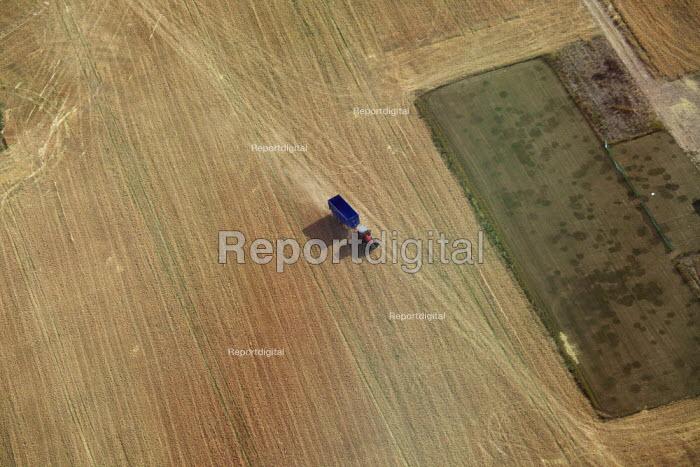 Aerial View of farmland Surrey - Duncan Phillips - 2013-07-26
