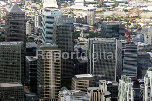 Aerial View of London, Canary Wharf, Docklands - Duncan Phillips - 2013-07-26