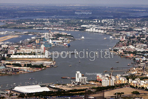 Aerial View of London - Thames Estuary and Thames Barrier - Duncan Phillips - 2013-07-26