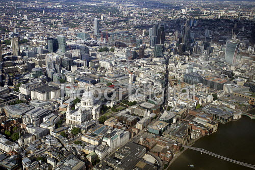 Aerial View of London - St Pauls and the City of London - Duncan Phillips - 2013-07-26