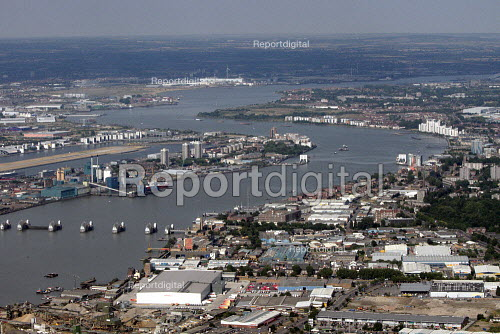 Aerial View of London - Thames Barrier and East London - Duncan Phillips - 2013-07-26