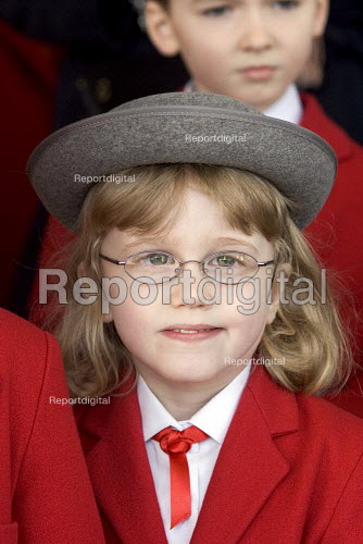 Schoolgirl at Stafford for the Queens visit to the town - Duncan Phillips - 2006-03-31