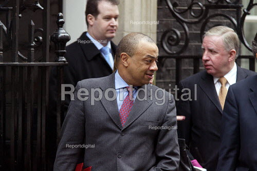 Paul Boating leaving Number 10 Downing Street after a cabinet meeting. - Duncan Phillips - 2003-04-09