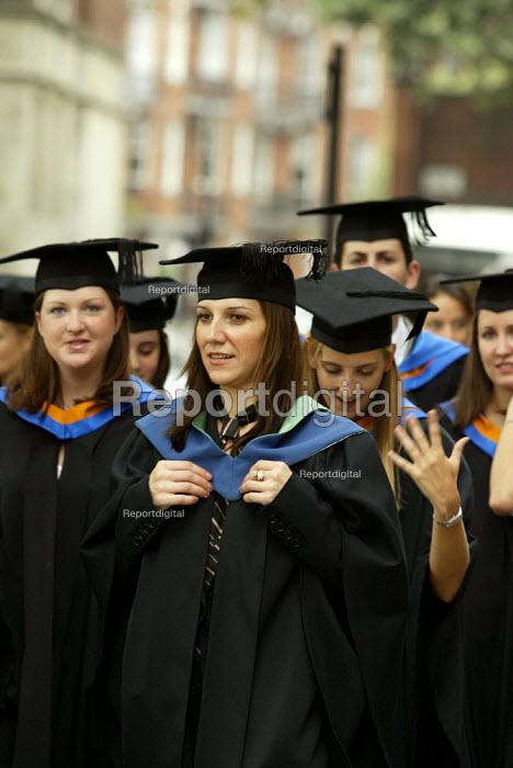 Student at University Graduation Day. - Duncan Phillips - 2003-10-03