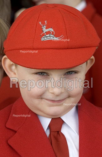 Schoolboy at Stafford for the Queens visit to the town - Duncan Phillips - 2006-03-31