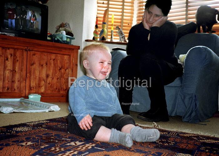 Baby boy crying with chicken pox. - John Harris - 2000-04-18