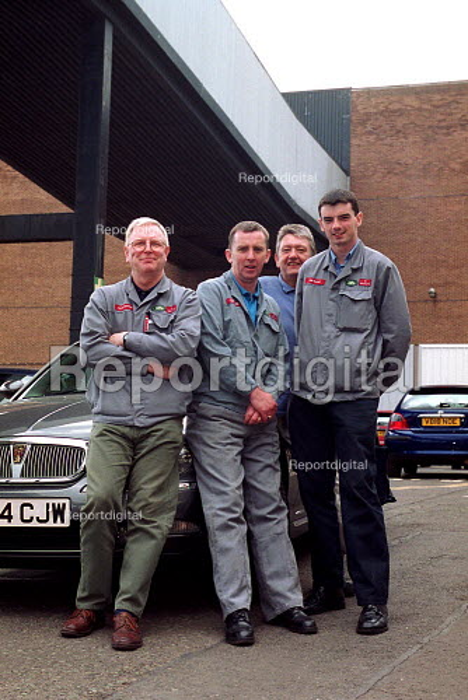Dave Dutton convener and shop stewards Rover Longbridge. - John Harris - 2000-05-18