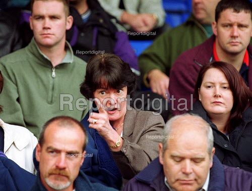 AEEU & GMB members at a mass meeting of Manweb workers who have stopped redundancies being imposed. Chester football ground. - John Harris - 2000-06-03