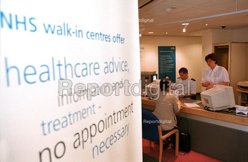 NHS walk-in centre in Boots Birmingham, which offers assessment by an experienced NHS nurse who can give healthcare advice, information and treatment. No appointment is necessary. - John Harris - 2000-06-16