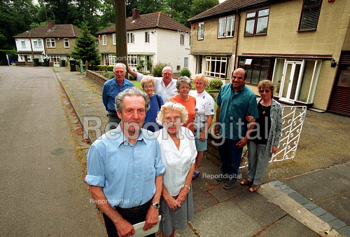 Pat Ryan and Dolly Ryan with other residents. - John Harris - 2000-06-16