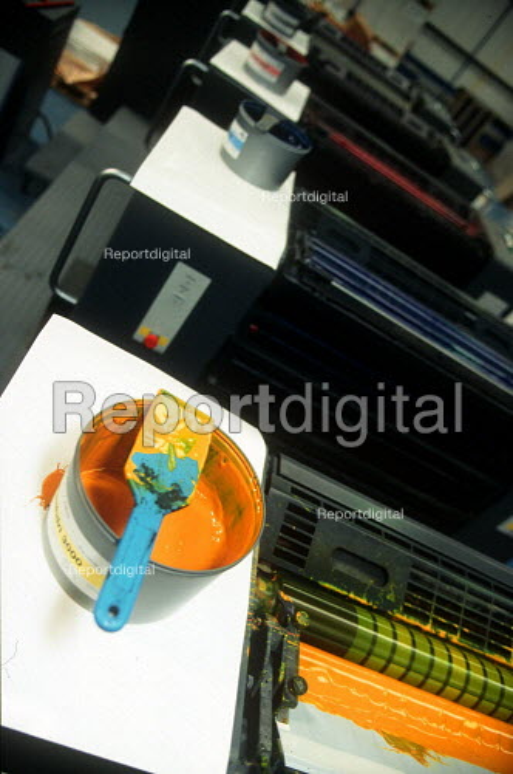Printing ink at printing factory. - John Harris - 2001-04-04