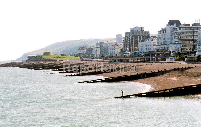 Pebble beach, and TGWU rest home Eastbourne. - John Harris - 2001-06-14