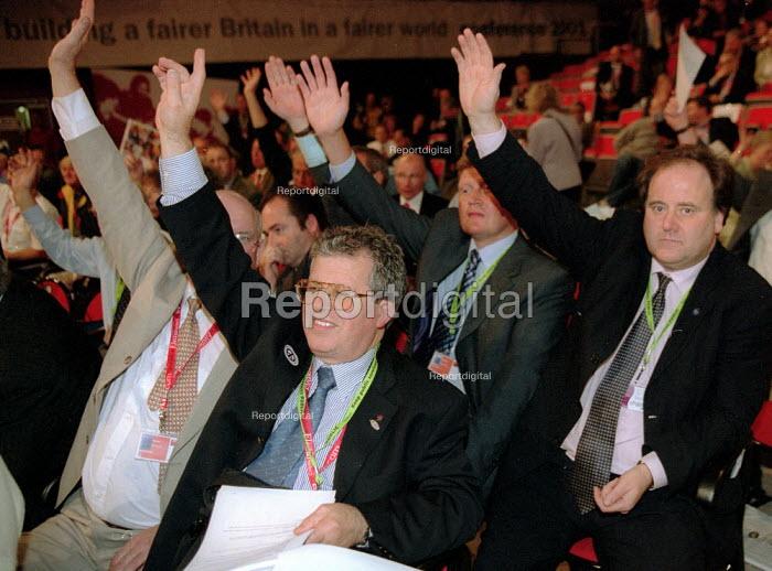 CWU delegation voting, Labour Party Conference 2001 - John Harris - 2001-10-01