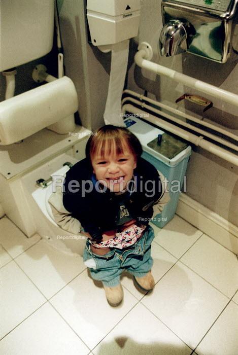 Little boy on the toilet at age 3 yrs. - John Harris - 2002-11-15