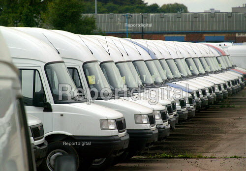 New vans. LDV van making factory, Drews Lane Birmingham - John Harris - 2003-08-20