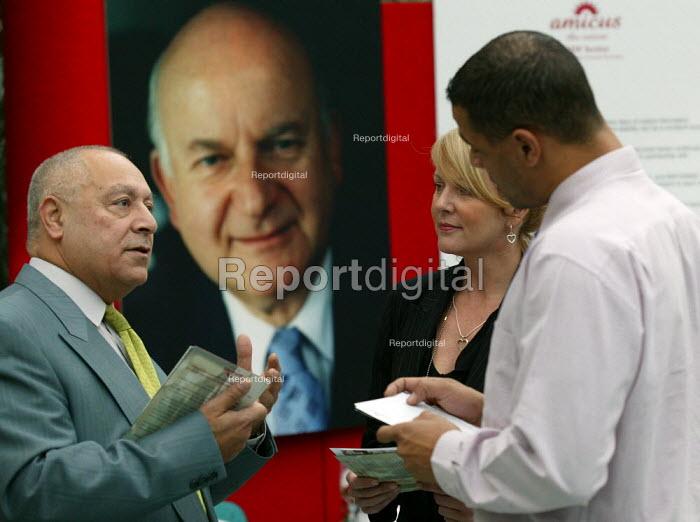 MSF Amicus Trades Union organiser recruiting new members at Britannic Assurance, Birmingham. - John Harris - 2003-06-02