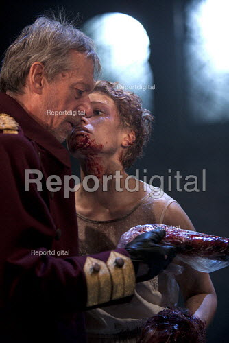 Stephen Boxer as Titus and Rose Reynolds as Lavinia, Titus Andronicus, Swan Theatre, Stratford upon Avon - John Harris - 2013-05-22