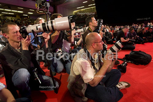 Press photographers at Labour Party Conference 2009. Brighton. - Jess Hurd - 2009-09-29